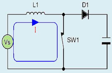 DC to DC Boost Converter Discontinuous Conduction Mode Circuit