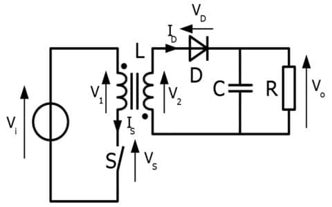 Flyback Transformer Circuit Diagram