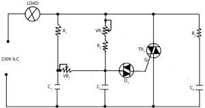 electronic light dimmer circuit using triac watelectrical comlight dimmer circuit