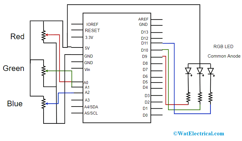 Schematic Diagram for Common Anode