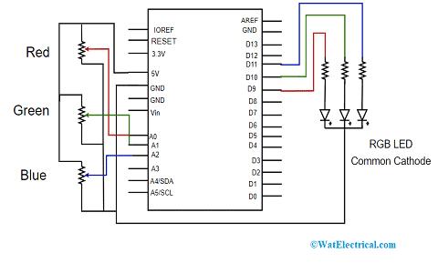 Schematic Diagram for Common Cathode