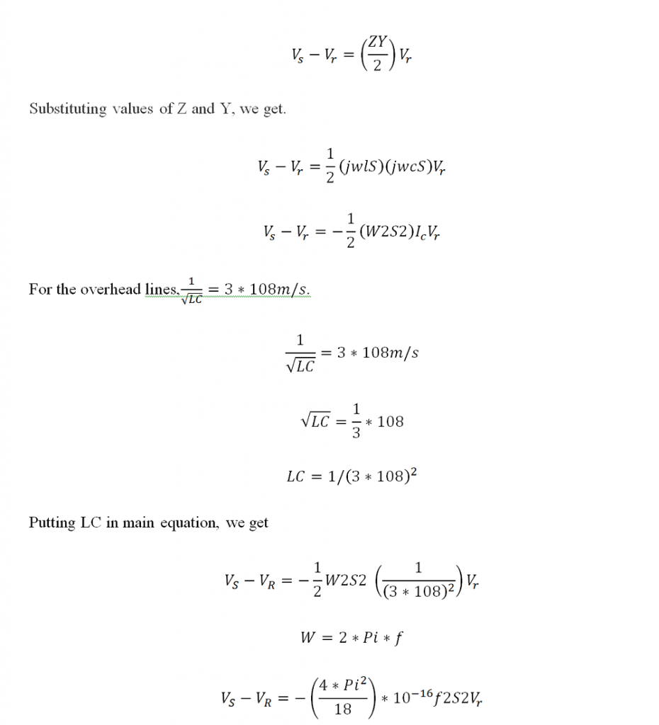 Ferranti Effect Equation 1
