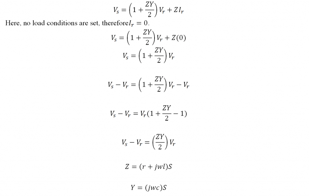 Ferranti Effect Equation