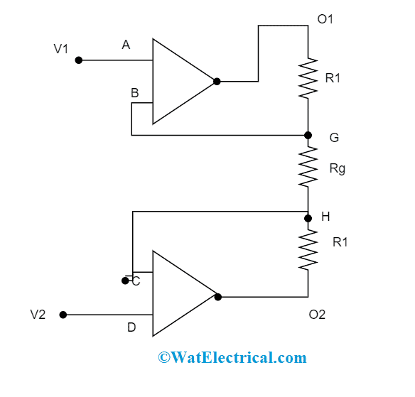 Input Stage Of Instrumentation Amplifier