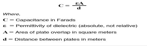 Mathematical Expression of Capacitor