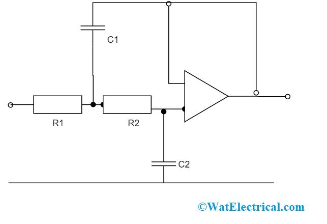 Second Order LPF Using Op-Amp